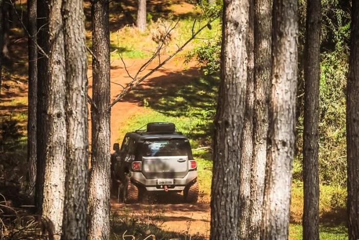 O roteiro de 120 quilômetros adentrou fazendas destinadas ao plantio de pinus (Rodrigo Phillips)