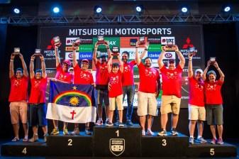 Pódio da categoria Turismo, campeonato Nordeste 2018 (Foto: Adriano Carrapato/Mitsubishi)