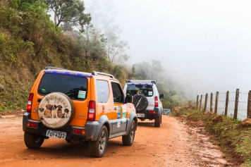Suzukeiros percorrem trilhas off-road (Foto: Cadu Rolim/Suzuki)