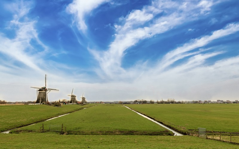 Dutch countryside near Amsterdam