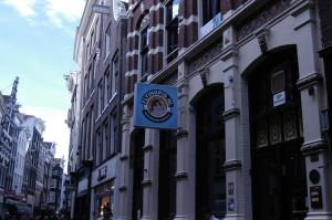 Flying pig downtown amsterdam