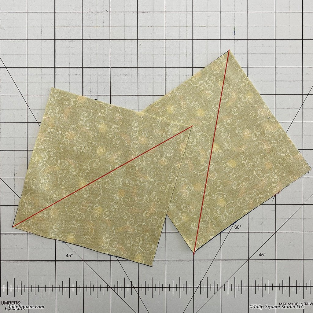 How to make disappearing windmills quilt blocks step 2