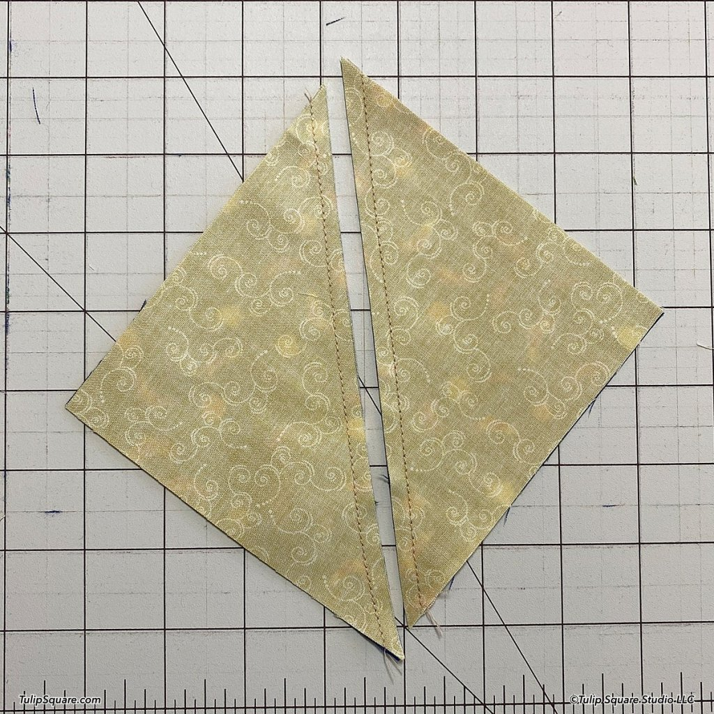 How to make disappearing windmills quilt blocks step 3