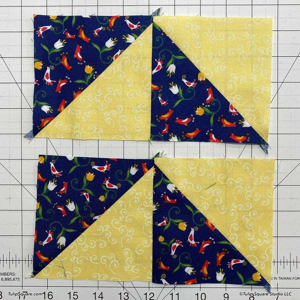 How to make disappearing windmills quilt blocks step 5