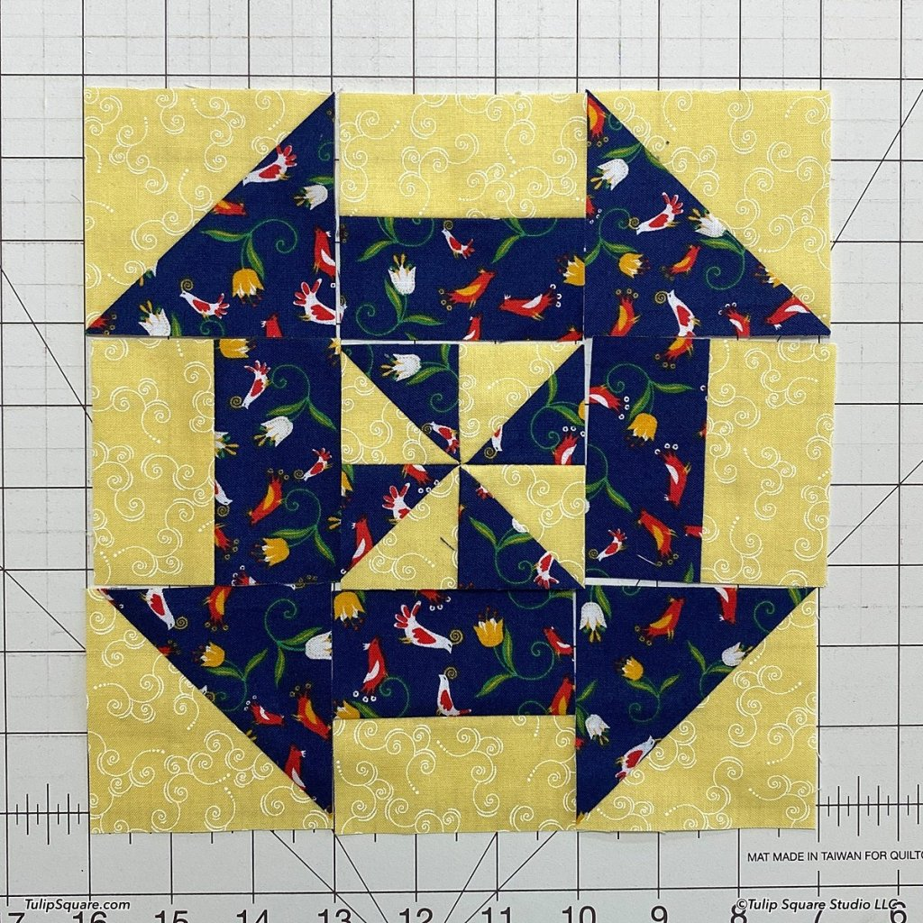 How to make disappearing windmills quilt blocks step 14