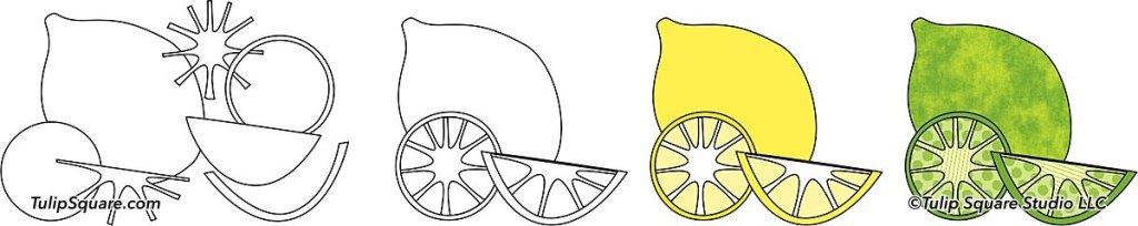 Lemon lime appliqué