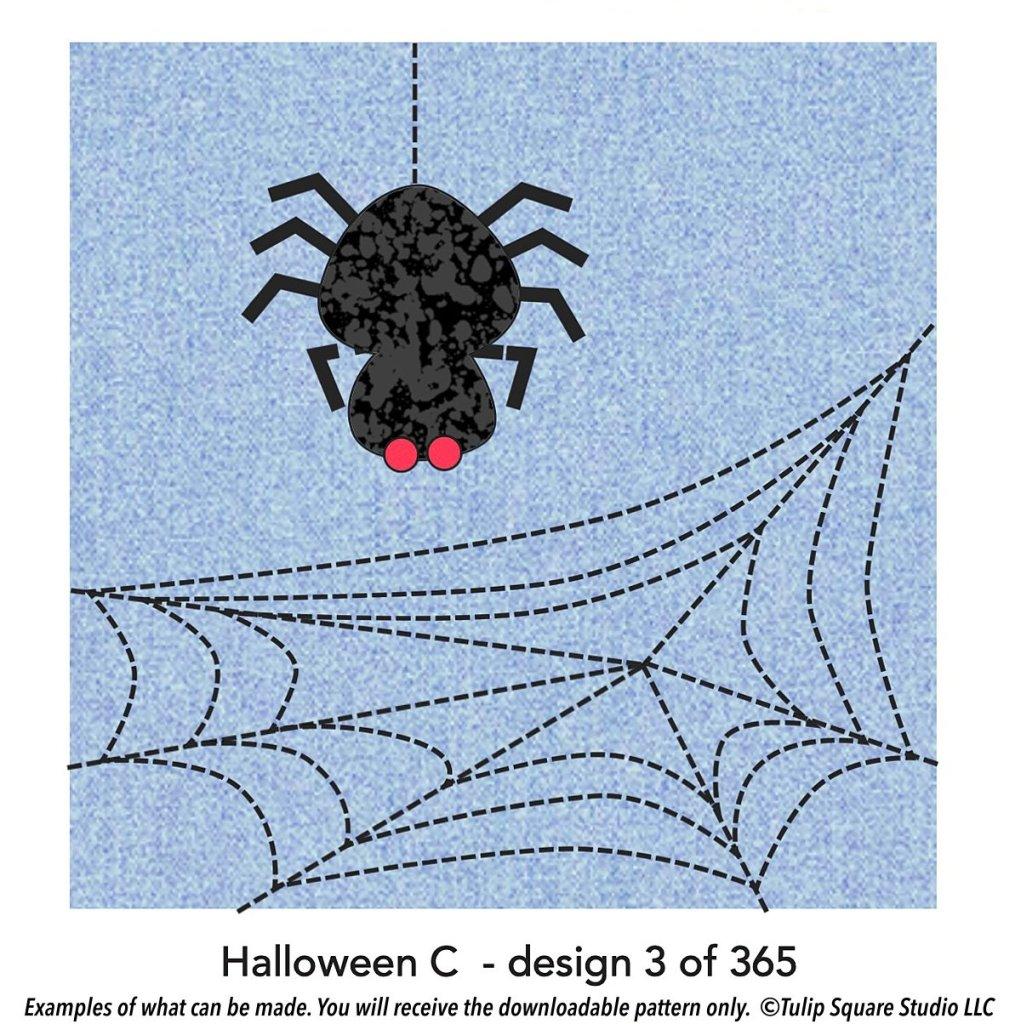 spider web free halloween applique