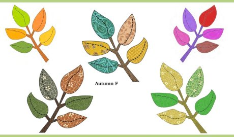 Autumn Branch Free Appliqué for Fall