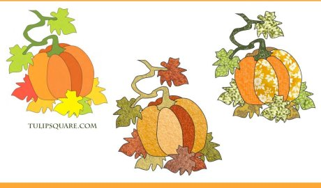 Pumpkin on the Vine Appliqué Pattern