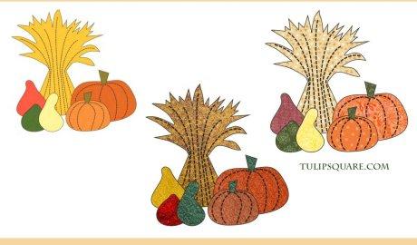 Free Autumn Harvest Appliqué Pattern