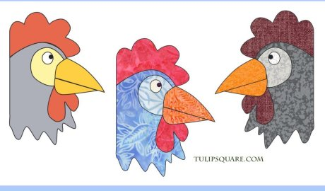 Free Chicken Appliqué Pattern - Friendly Rooster