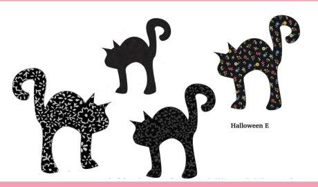 Free Halloween Appliqué Design - Black Cat