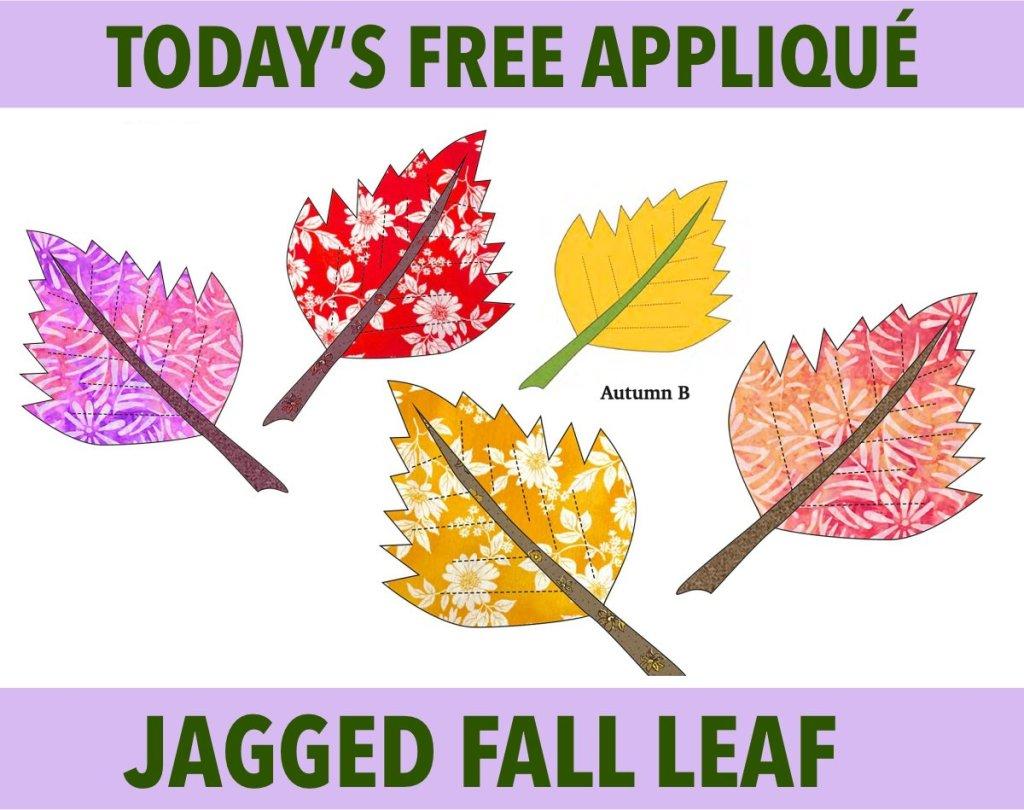 Free Jagged Fall Leaf Appliqué Pattern