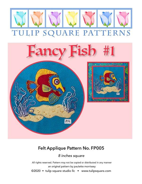 Fancy Fish 1 Felt Appliqué Pattern Cover