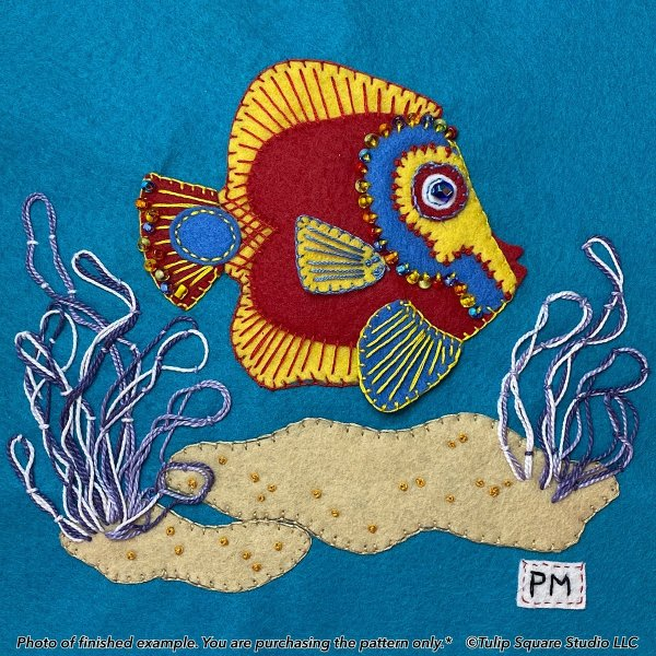 Fancy Fish 1 Felt Appliqué Pattern