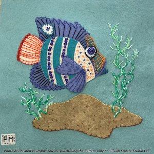 Fancy Fish 2 Felt Appliqué Pattern