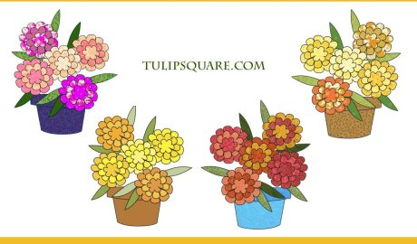 Potted Flowers Free Appliqué Pattern