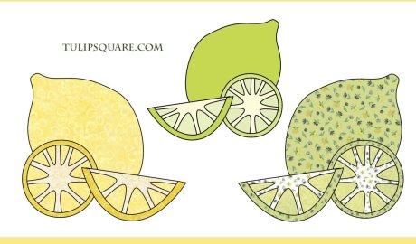 Free Fruit Appliqué Pattern - Lemons and Limes