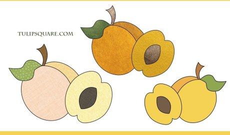 Free Peaches Appliqué Pattern