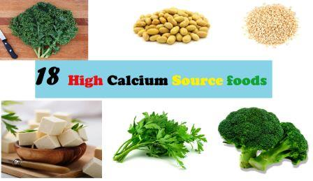 18 High Calcium Source foods