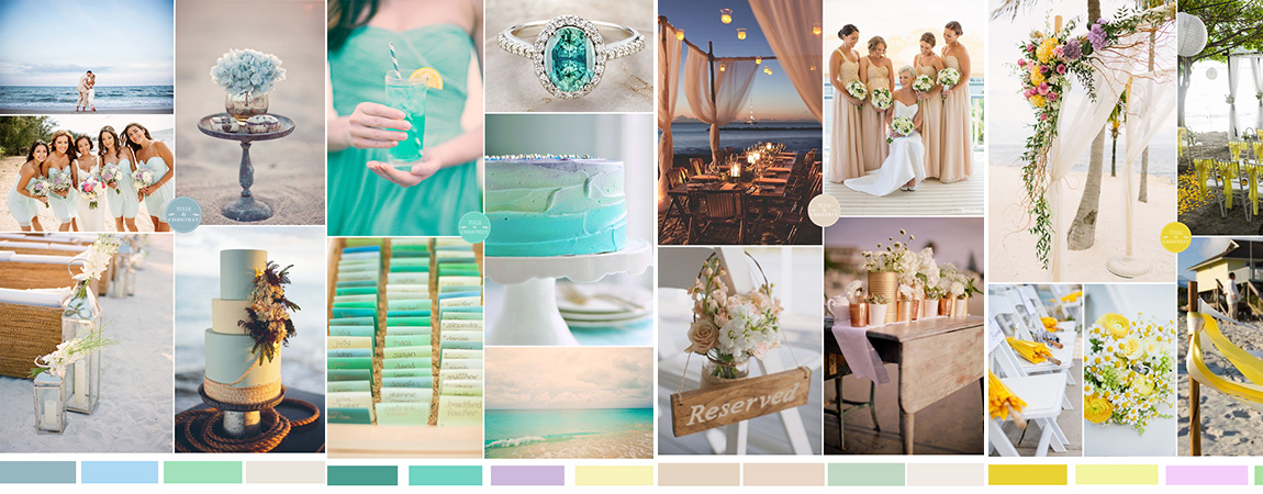 Top 5 Beach Wedding Color Ideas For 2015