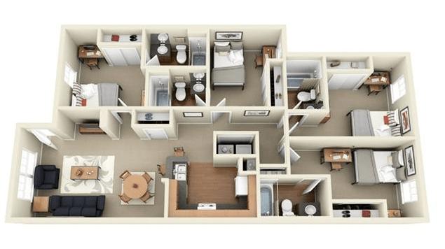 Rumah Minimalis 1 Lantai 4 Kamar Tidur Tuljen Blog