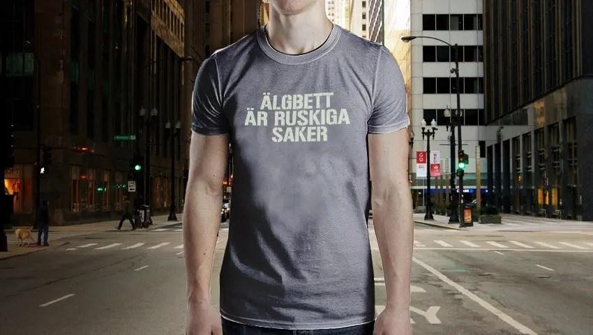 Älgbett är ruskiga saker - Premium T-shirt herr 3