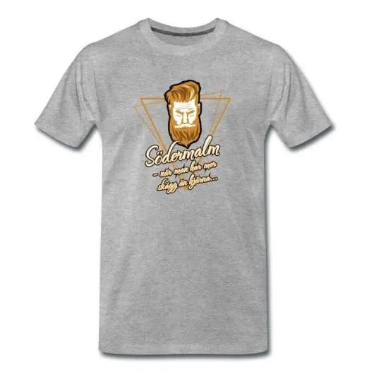 Södermalm - när man har mer skägg än hjärna - Premium T-shirt herr