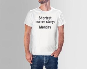 Shortest horror story - Premium T-shirt herr