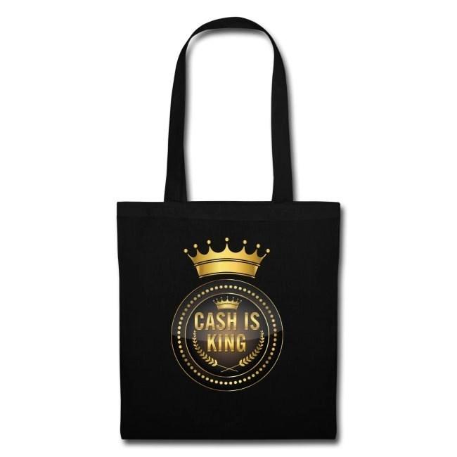 Cash is king - visa att du bojkottar kontantfria butiker och restauranger - Tygväska