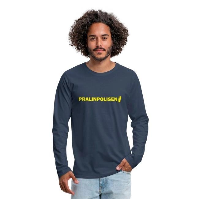 Pralinpolisen - Långärmad premium T-shirt herr