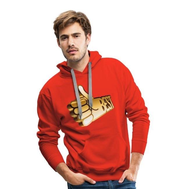 Best - Premiumluvtröja hoodie herr