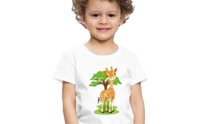 Giraff – gulliga djur på barntröjor