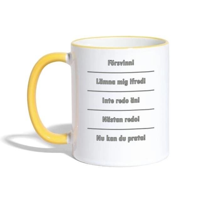 Kaffemugg - Olika stadier - Tvåfärgad mugg