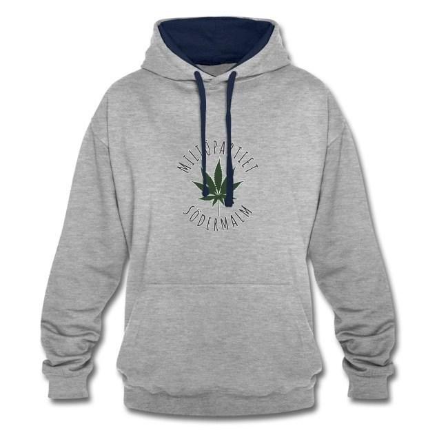 Miljöpartiet Södermalm Cannabis - Kontrastluvtröja av unisexmodell