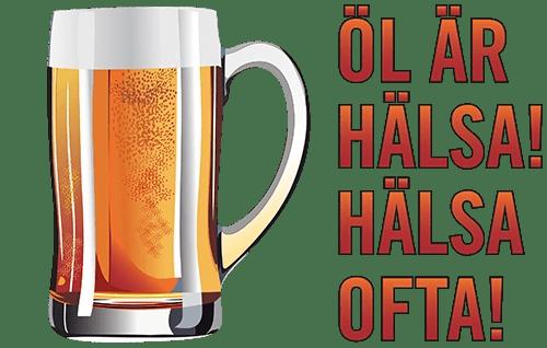 Motiv: Öl är hälsa - Hälsa ofta