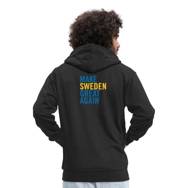 Make Sweden Great Again - Premium Luvjacka Hoodie herr