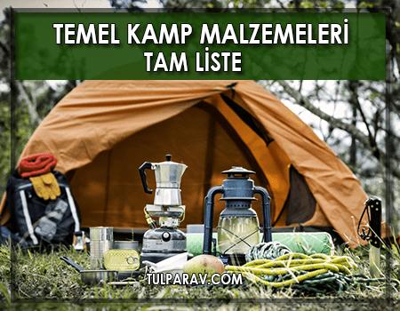 Temel Kamp Malzemeleri