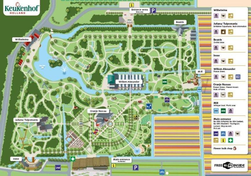 Karte der Keukenhof Gärten