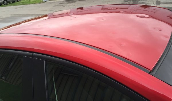 Buying A Car With Hail Damage >> Car Roof Damage Got Hail Damage Call Now To Schedule Repairs