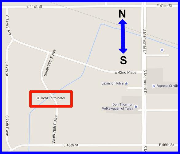 Dent Terminator Location Map Tulsa
