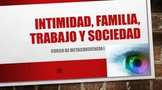 Intimidad, familia, trabajo y sociedad