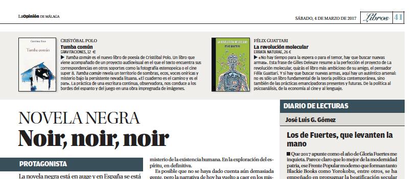 Libros, la Opinión de Málaga