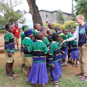 Nkweshoo school visit of Joachim