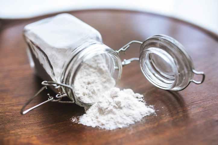 gluten free flour in a jar
