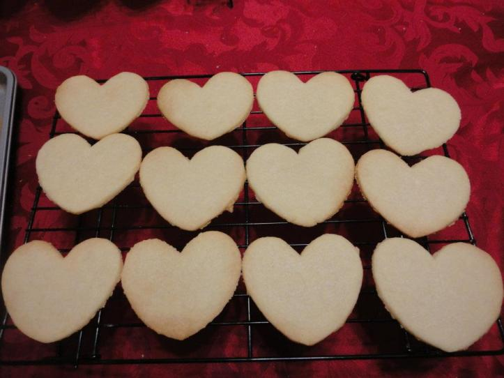 Gluten, dairy, dye free valentine's day cookies