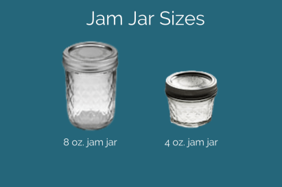 Jam jar size guide