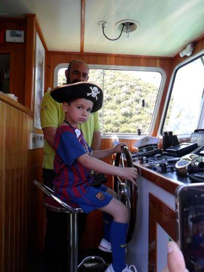 Nos convertimos en capitán de barco