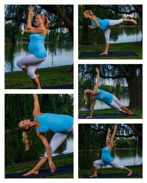 rutina prenatal de yoga