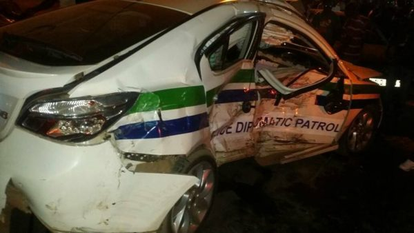 Police Officer Fails To Obey Traffic Signs, Causes Accident Near Pub